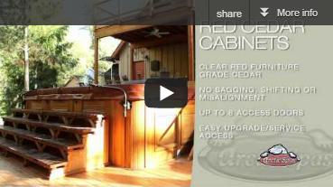 Arctic Spas Red Cedar Cabinets
